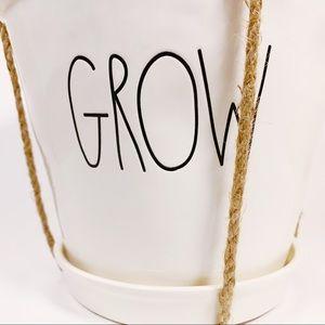 Rae Dunn Other - Rae Dunn GROW Flower Pot Planter